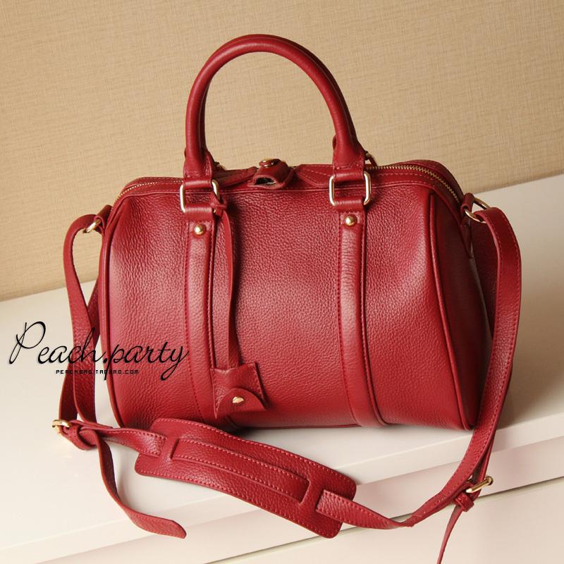 Alexa sofia coppola claretred handbag leather bag(China (Mainland))
