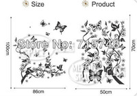 Free shipping:3 SET=11.99USD ONLY The Cute Floral fairy Sticker Hot selling Print type DIY Decoration Fashion Wall Sticker