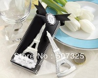 50PCS/LOT, Fashion Tower Wine Bottle Opener Favor Metal Wine Openers For Wedding Souvenirs Gifts Wedding Supplies