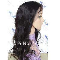 #1b can be colored , Malaysian Human Hair Lace Front Wig Natural Color Loose Curl