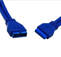 USB 3 0 Motherboard 20pin Male Connector to 20pin Female 50cm Extension Cable