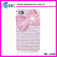 Free Shipping! Rhinestone bow jeweled phone case for iphone 4 4g 4s bling bling phone cover