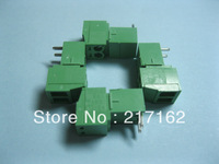 15 Pcs Per Lot Angle 2pin/way Pitch 3.81mm Screw Terminal Block Connector Green Color Pluggable Type with angle pin HIGH Quality