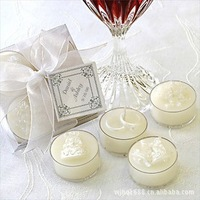 1Set/Lot=4Pcs/Lot,Free Shipping,Reasonable Price,High Quality,Wedding Gift Scented Craft Candle,Wonderful Wedding Favor