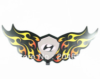 wholesale Genuine  car logo style Sound Active flashing EL car Sticker 50*20 Size  Car Music Rhythm Lamp free shipping