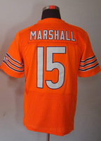 #15 Brandon Marshall Men's Elite Alternate Orange Football Jersey