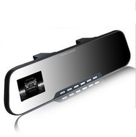 Car rearview mirror single and double lens wide angle night vision mini driving recorder car black box mini hd
