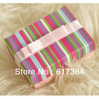 10pcs lot free shipping  princess gift box lovely rainbow jewelry box for packaging box wholesale