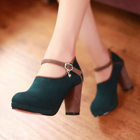 New fashion sexy dress zipper buckle high-heeled shoes women high heels pumps YSN132 eur big size 34-43