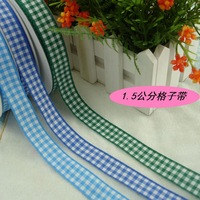 Free shipping,15mm width,styles polyester scottish tartan,woven edge gingham ribbon,bow decorative and gift packing