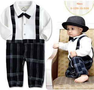 Designer Clothes For Infant Boys Baby Romper boy s Gentleman