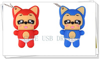Little fox 2GB/4GB/8GB/16GB/32/64GB Real Capacity USB 2.0 Flash Drive Memory Stick key Free shipping+Drop shipping