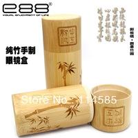 Top Quality-Brand New Style Fashion Elegant E88 glasses case vintage pure bamboo handmade glasses general box glasses box