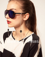 Free Shipping-Top Quality-Brand New Style Fashion Elegant Metal slip-resistant glasses chain glasses rope after color - 0325