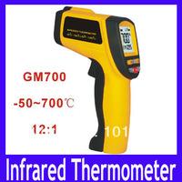 Free shipping Non-Contact Digital IR Infrared Thermometer Gun -50C-700C 12:1 GM700,3pcs/lot