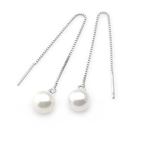 Shell pearl earring 925 pure silver earring accessories earring anti-allergic earring