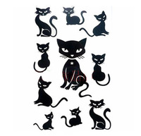 New Fashion 15pcs black small cat  Personality Temporary tattoo Waterproof body tattoo stickers  Free Shipping