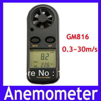Free shipping Beaufort Wind Anemometer ,digital Anemometer 0.3~30m/s GM816,MOQ=1