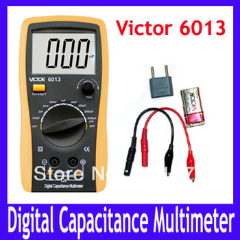 Free shipping VICTOR 6013 3 1/2 Capacitance Meter Metallic screen board with antimagnetic and anti-interferential 2pcs/lot