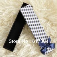 10pcs lot free shipping princess stripe neckalce box European jewelry box for bracelet box