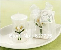 Free Shipping ,High Quality,Reasonable Price,Wholesale 10Pcs/Lot Common Callalily Smokeless Scented Wedding Gift Candle