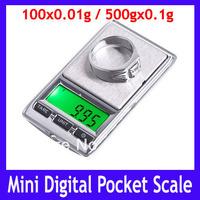 Free shipping High Precision 100gx0.01g / 500gx0.1g Mini Digital Pocket Scale Electronic Jewelry Balance ,5pcs/lot