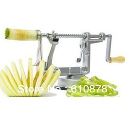 Free ship,Eco-Friendly aSilver Apple Pear Fruit Peeler Corer Slicer Tool 3 in 1 High quality(China (Mainland))