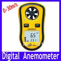 Free Shipping Digital Anemometer ,Digital Wind Speed Meter Gauge Sport Anemometer handy NTC Temperature GM8908 ,5pcs/lot