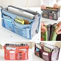 Men Women Inside Outside Dual Insert Storage Nylon Organizer Clutch Purse Handbag MP3 Phone Cosmetic Makeup Key Multi Bags