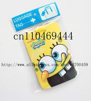 12pcs SpongeBob SquarePants  Fashion bags / luggage tag / consignment card / travel tag / luggage checked identification card