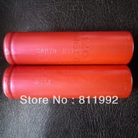Free shipping Sanyo 3.7V 2600mAh 18650 Rechargeable Battery (1 pair)