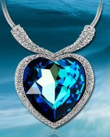heart  of   Ocean Titanic Crystal women Necklaces & Pendants Ladies Favorite Fashion Jewelry