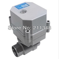Normal Closed 2 way electric ball valve DC/AC9-24V 3/4'' full port ss304 valve with on/off indicatorfor air/water control