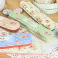 Korea stationery fresh lace tin stationery box pencil box tin box(China (Mainland))