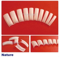 [AA302] FREESHIPPING 500 halfwell Natural french nail art tips half cover false nail tips