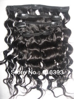 AAAAA Virgin Brazilian Hair Loose Wave Clip In Hair Extensions Human 100% human hair extension- clips in hair weft