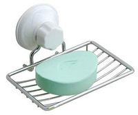 hot sales strong suction cup metal soap holder soap tray holder suction fixing system bathroom accessories