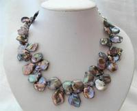 Genuine popular Tahitian natural color pearl necklace