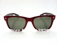 Selling cheap neutral trend beach sunglasses   Red and black frame green lens  5omm glass lenses Sunglasses