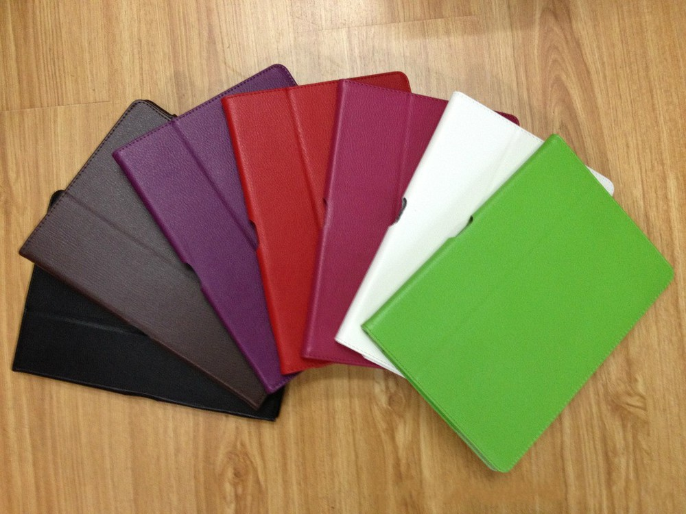 Free shipping 1pcs Folio Folding Leather Case with stand for ASUS Eee Pad Transformer TF300(China (Mainland))