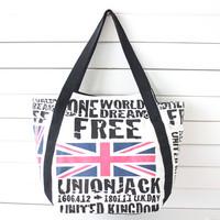 Bags 2013 female canvas bag shoulder bag large women's handbag torx chess national flag bag