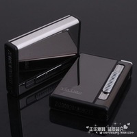 Xl magnetometric care automatic cigarette case 10 topping-up windproof lighter gift