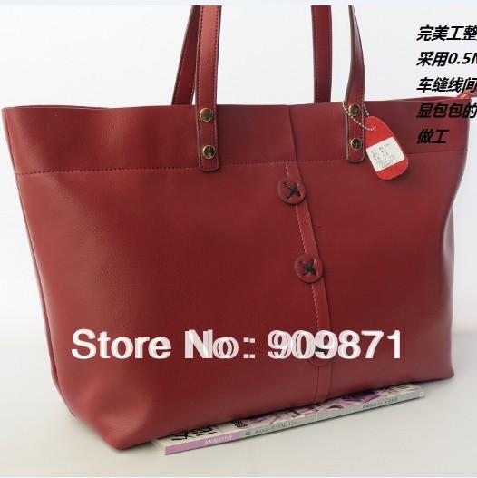 Star bag vintage shoulder bag genuine leather women's handbag belt goose feather big bag(China (Mainland))