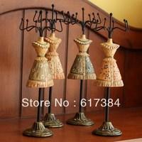 2pcs lot free shipping fashion princess skirt model jewelry rack vintage jewelry display rack necklace rack