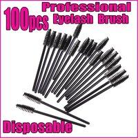 100 pcs Disposable Eyelash Brushes Mascara Wand Brushes,Free Shipping wholesale