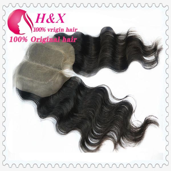 New arrival lace brazilian lace closure wholesale hair products 4*4 inch(China (Mainland))