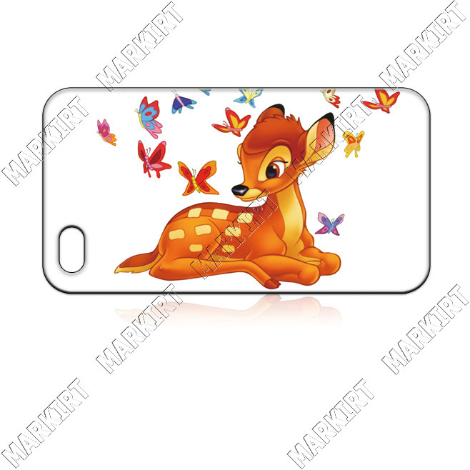 IZC0648 BAMBI CARTOON 10 pcs/lot case cover for iphone 4 4s 4th wholesale retail free shipping for bulk order(China (Mainland))