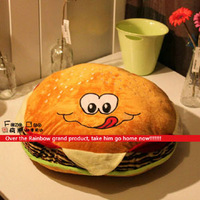 Free shipping Hamburger home furnishing big sit Piaochuang cushion birthday gift items plush toys creative pillow 15.1in