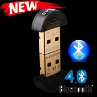 Mini USB Bluetooth V 4.0 Dual Mode Wireless Adapter Dongle  Free Shipping Wholesale