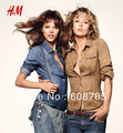 Blue/Camel 2013 Fashion Vintage Slim Suede Fabric Water-washed Denim Shirt Women Casual Jacket Coat Free shipping B0825